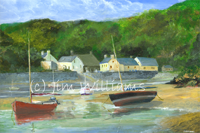 Solva Harbour painting
